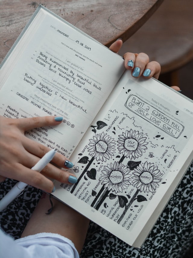 Your journal can be a combination of notes and sketches